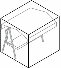 Videx-Gartenmöbel-Schutzhülle für Hollywoodschaukel, taupe, L:210, B:145, H:150cm