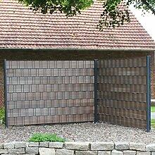 Videx-Hart-Kunststoff Sichtschutz-streifen Premium, 9,5 x 200 cm braun, Groß-Packung: 9 x 2er Se