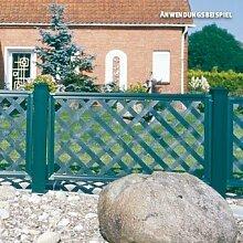 Videx-Kunststoffzaun Oxford Classic, 65 x 65cm, grün