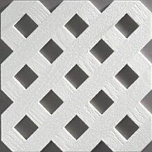 Videx-Kunststoffzaun Oxford Diamant, 65 x 65cm, weiß