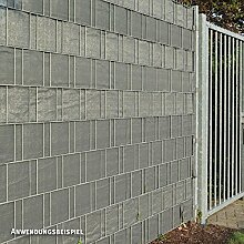 Videx PE Sichtschutzstreifen für Doppelstabmatten, 19 x 250 cm, anthrazi