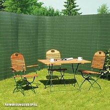 Videx Sichtschutzmatte Rügen, Kunststoff grün,
