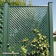 Videx-Sichtschutzwand Kunststoff, Coventry-Diamant, 65 x 185cm, grün