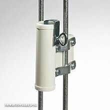 Videx-Sonnenschirmhalter für Balkongitter, weiß, Ø 25mm