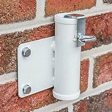 Videx-Sonnenschirmhalter für die Wand, weiß, Ø 25mm