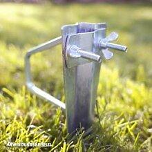 Videx-Sonnenschirmhalter Rasendorn, verzinkt, bis Ø 35mm