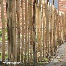 Videx-Staketenzaun Kastanie Normandie, 4-5cm Lattenabstand, 120 x 300cm