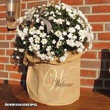 Videx-Winterschutz Jute-Übertopf Welcome, H: