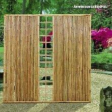 Videx-ZEN Sichtschutzwand Bambus mit Spalier, 120