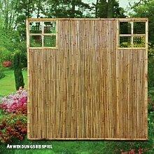 Videx-ZEN Sichtschutzwand Bambus, Ziergitter rechts u. Links, 120 x 180cm