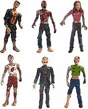VIDOO Sechs Set Zombie-Modell Terror-Leiche