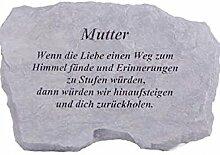 Vidroflor Gedenkstein Mutter Steinguss 27 x 41 cm