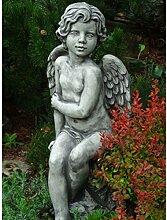 Vidroflor Steingussfigur | Sitzender Engel Sava