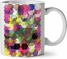 Vieleck Gestalten Weiß Tee Kaffee Keramisch Becher 11 oz   Wellcoda