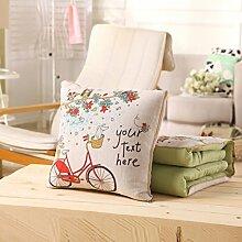 vielseitige Baumwolle Kissen Abdeckungen Dual-Use/Office Nickerchen Kissen Kissen Quilt/ Kissen Sofa-I 43x43cm(17x17inch)