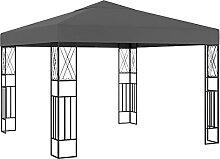 VIENDADPOW Garten Balkon Pavillon 3×3 m Anthrazit