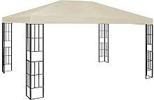 VIENDADPOW Garten Balkon Pavillon 3×4 m Creme
