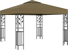 VIENDADPOW Garten Balkon Pavillon 3x3 m Taupe 180