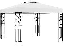 VIENDADPOW Garten Balkon Pavillon 3x3 m Weiß 180