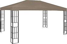 VIENDADPOW Garten Balkon Pavillon 4x3 m Taupe