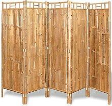 VIENDADPOW Raumteiler Raumteiler Bambus 5-TLG.