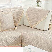 vier Jahreszeiten Leinen Sofakissen/Moderne minimalistische Slip Sofa-Kissen-A 110x160cm(43x63inch)
