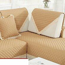 vier Jahreszeiten Leinen Sofakissen/Moderne minimalistische Slip Sofa-Kissen-C 110x240cm(43x94inch)