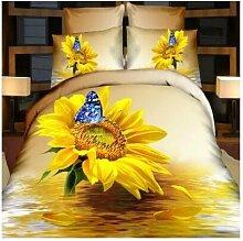Vier Stück Baumwolle stereo - blumen - Betten -