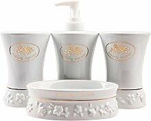 Vier Stück sanitäres Steinzeug Badezimmer Badezimmer Badezimmer Suiten