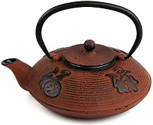 VIER to Teekanne, orientalisch, Gusseisen, Rot,
