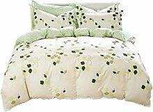Vierteilige, Baumwolle, 1.5m / 1.8m 2.0m Bett, einfache 4 Sätze Bettwäsche (1 Bettwäsche + 1 Steppdecke + 2 Kissenbezüge) , #1 , 2m (6.6 feet) bed