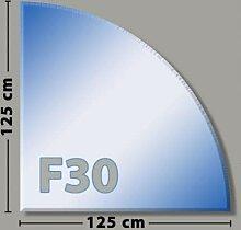 Viertelkreis F30 Funkenschutzplatte - Glasplatte