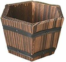 ViewHuge Holz Flach/Wave/Sechseck Mund Barrel