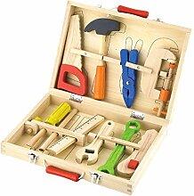 VIGA - Werkzeugkoffer-Set - 10 Teile - Holz