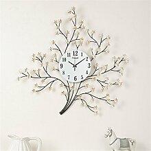 vigvog Modern Creative Arts Uhren Persönlichkeit Wanduhr Mute Schlafzimmer Wohnzimmer Wanduhr, weiß, Einheitsgröße