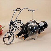 vigvog Motorrad Wein Flasche Glas Rack Halter HOME KÜCHE Living Esszimmer Decor Accent 41cm ¡á21cm ¡á28cm, silber, 41*21*28cm