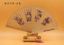 vigvog Sandelholz Fan Geschenk-Box Fan mit chinesischen Stil Faltbar Fan für Frau, P-3, One?Size