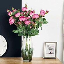 vijTIAN 1 künstliche künstliche Rosen Flanell