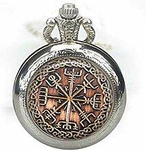 Viking Taschenuhr Vegvisir Runen Halskette