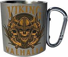 Viking valhalia Edelstahl Karabiner Reisebecher