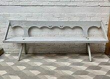 Viktorianische Arts and Crafts Flurbank aus Holz