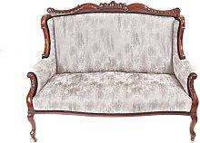 Viktorianisches Sofa mit Gestell aus geschnitztem