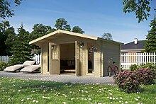 Vikträ Gartenhaus PLACAS I 40 ISO Blockhaus