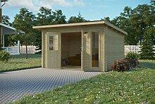 Vikträ Gartenhaus PLACAS II 40 ISO Blockhaus