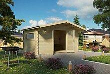 Vikträ Gartenhaus PLACAS III 40 ISO Blockhaus