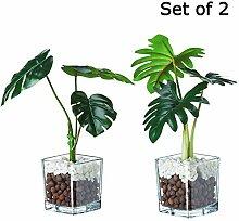 VILIVIT Künstliche Pflanzen in transparenten