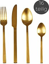 Villa Collection Besteck-Set Gold, 16-TLG,