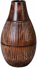VILLACERA Wood Vase, braun