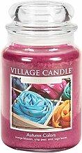 Village Candle Herbstfarben Duftkerze im Glas, 737