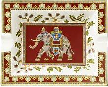 Villeroy & Boch 10-4734-4090 Samarkand Accessoires Aschenbecher, 17 x 21 cm, Premium Bone Porzellan